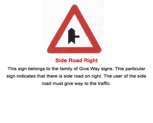 Cautionary Road Signs